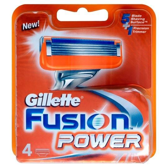 Gillette Fusion Power Razor Blades 4 Pack #skin #style #health