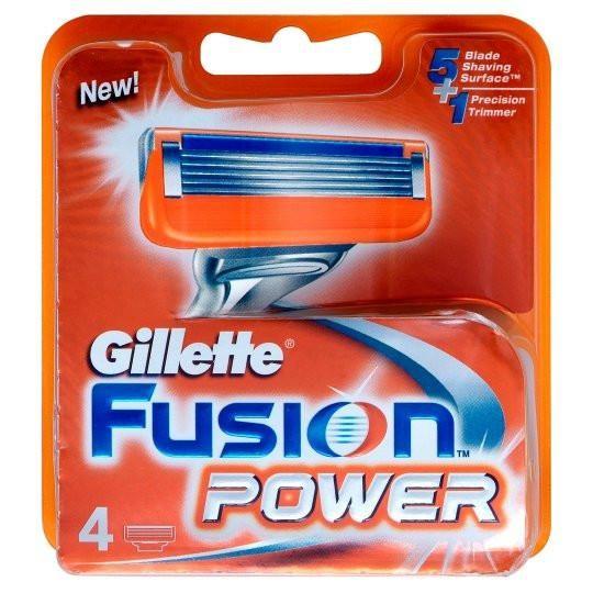 Gillette Fusion Power Razor Blades 4 Pack #skin #style #health