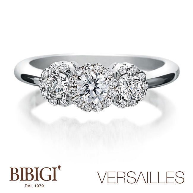 """#Bibigì - Collezione #Versailles - Collana in oro bianco e diamanti.  Collezione di grande versatilità Versailles propone con leggerezza e stile il buon gusto di gioielli da indossare ogni giorno con la disinvoltura che circonda lo stile """"simply chic"""" di una donna elegante dallo charme inossidabile."""