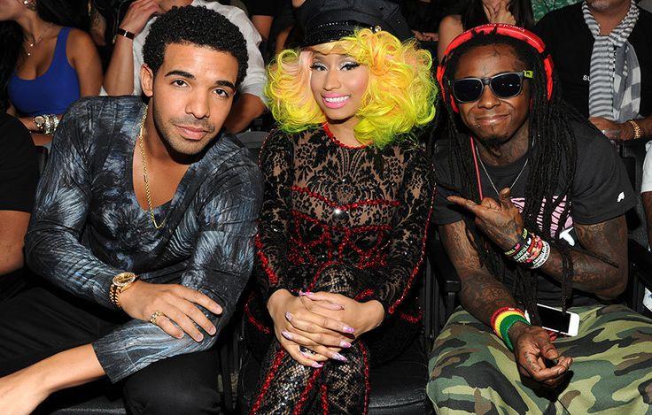 Drake, Nicki Minaj, and Lil Wayne on the scene at the 2012 MTV Video Music Awards in Los Angeles.