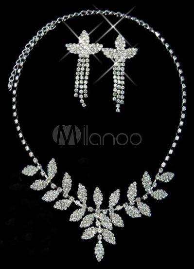 #Milanoo.com Ltd          #Wedding Jewelry Sets     #Leaves #Shaped #Silver #Plated #Rhinestone #Wedding #Jewelry                 Leaves Shaped Silver Plated Rhinestone Wedding Jewelry Set                                              http://www.snaproduct.com/product.aspx?PID=5692418
