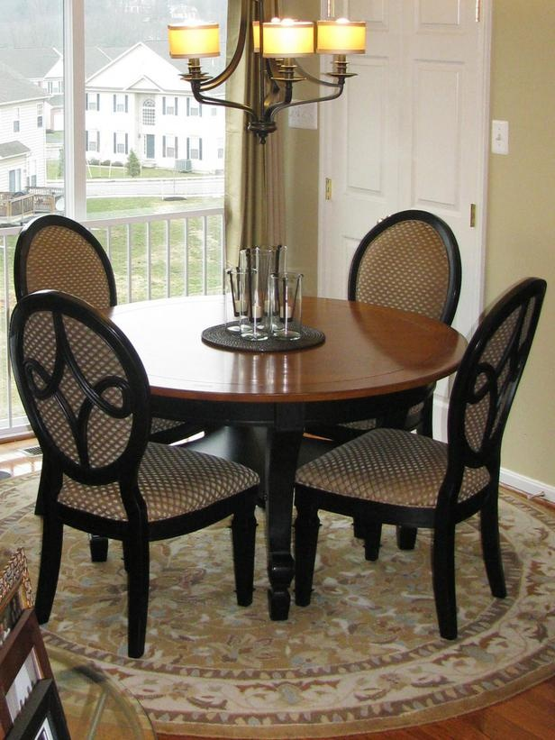 This Dining Area Makes The Most Of Its Limited Space By Using A Small Round Table And Four Louis XVI Style Oval Backed Chairs Maximizing Without