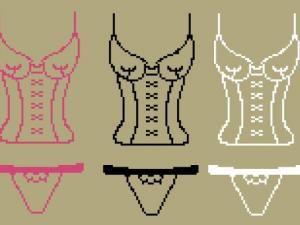 point de croix  corsets lingerie- cross-stitch