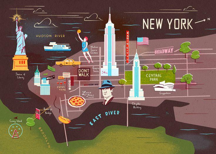 Illustrator Reinterprets Maps Of New York, London, Paris - DesignTAXI.com