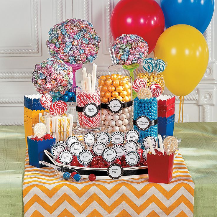 18th Birthday Birthday Party Favor Gumball Candy: OrientalTrading.com (Use As