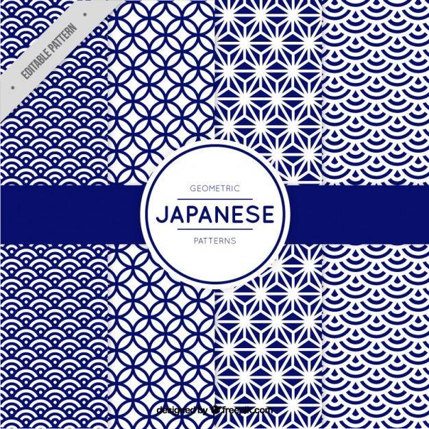 日本のスタイルで青の幾何学的形状のパターン 無料ベクター                                                                                                                                                                                 もっと見る