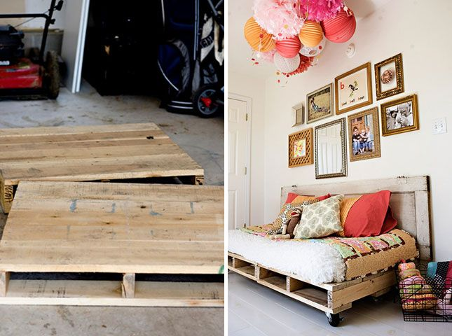 Pallet daybed   Creative Ways to Repurpose Pallets