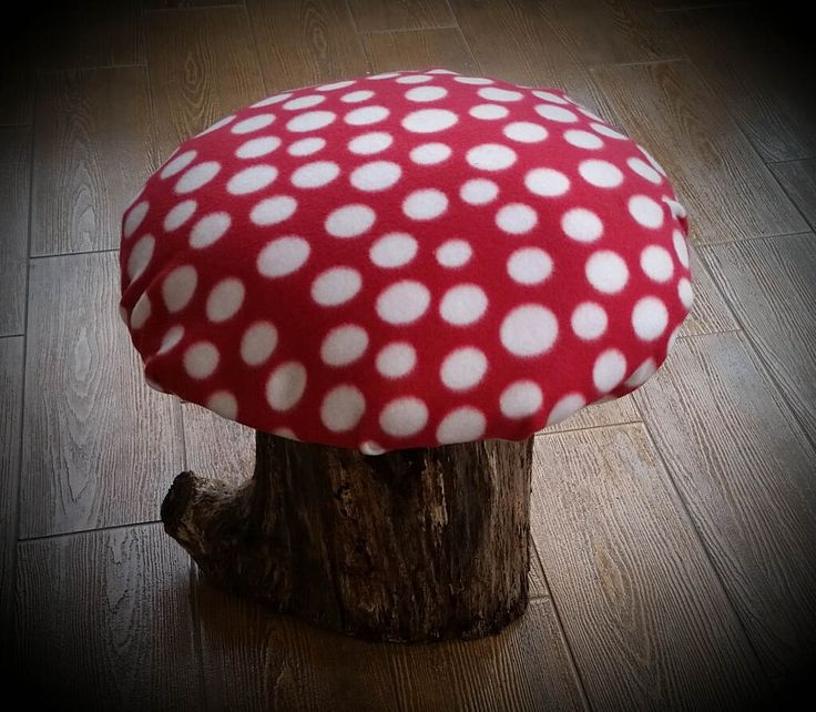 Mushroom Seat Top Red - Fairy, Princess, Super Mario, Garden Party Birthday chair by thegreencottagedoor on Etsy