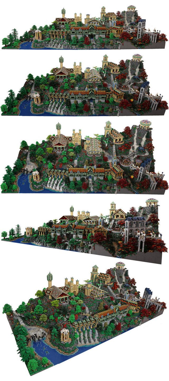 200,000-Piece LEGO Rivendell (Built By The Same Lady Who Brought Us That Massive LEGO Hogwarts)