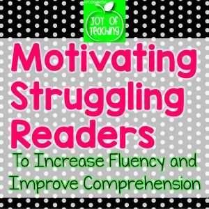 Great ideas to help these students experience success and build confidence to improve their reading skills.