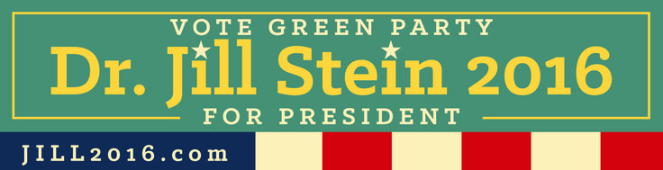 Dr. Jill Stein Green Party presidential candidate 2016 - Design by Paul Herrera