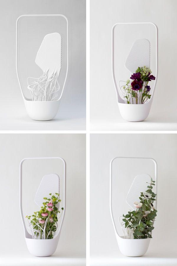 a new way to do flower arrangement: Ikebana medula vase - Benjamin Graindorge