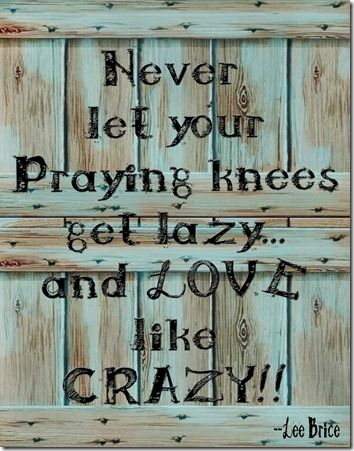 """""""Be a best friend, tell the truth  And overuse """"I love you""""  Go to work, do your best  Don't outsmart your common sense  Never let your prayin' knees get lazy  And love like crazy""""- """"Love Like Crazy"""" by Lee Brice <3 one of my favorite songs on the radio."""