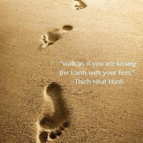 Walk as if you are kissing the earth with your feet | Anonymous ART of Revolution