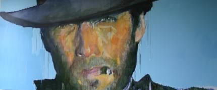 Clint Eastwood | 120 x 48 inches or 10ft x 4ft | Oil on canvas |  Stunning and quite breathtaking in person