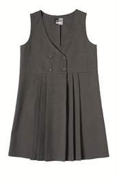 School Uniform Girls Four Button Pinafore Dress