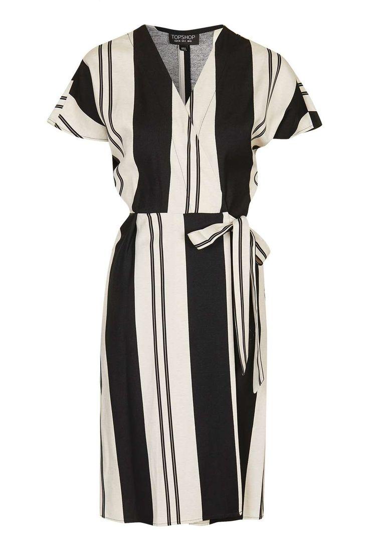 Stripe Wrap Dress - Dresses - Clothing - Topshop