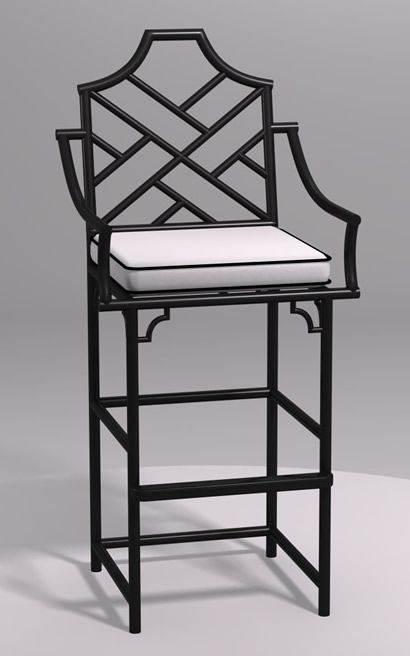 Chinese Chippendale Barstool with Arms Chippendale Furniture