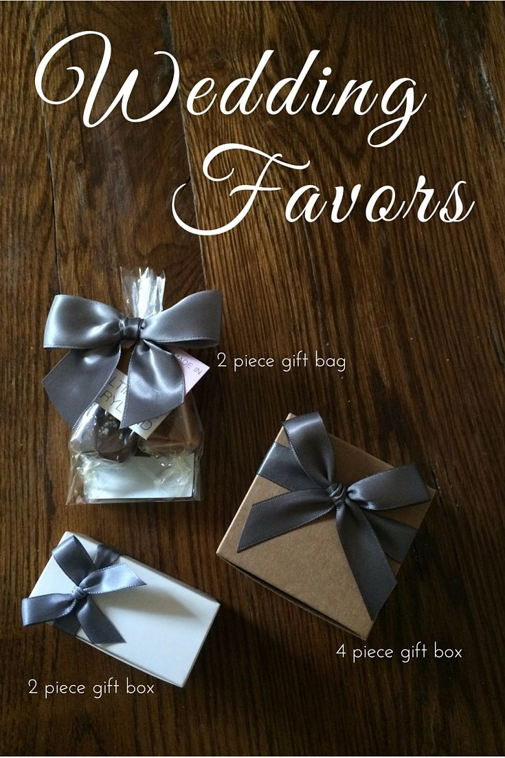 Love is Sweet! Caramel wedding favors available in a variety of packaging & color options. (grey, white, & kraft pictured)