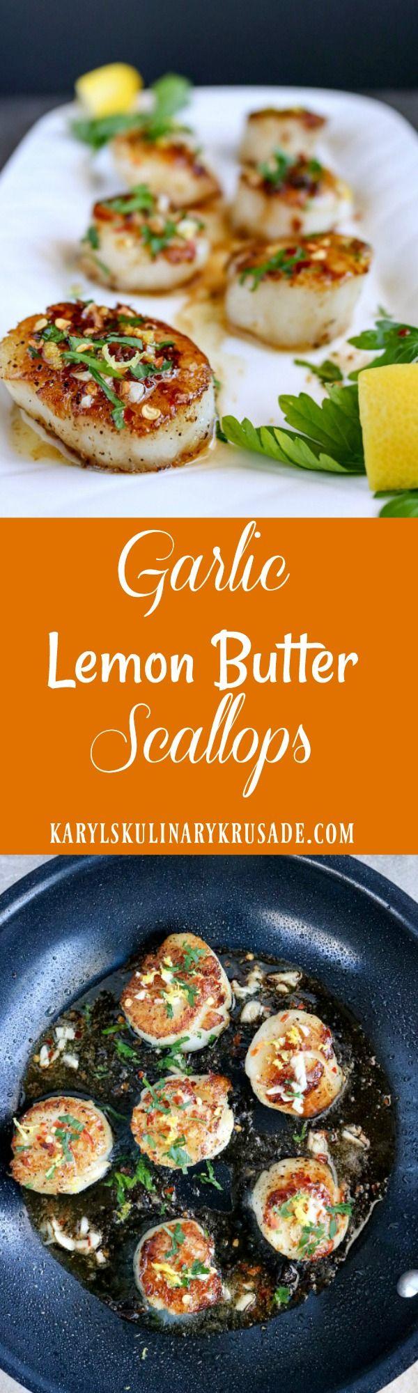 Garlic Lemon Butter Scallops. The butter creates t…