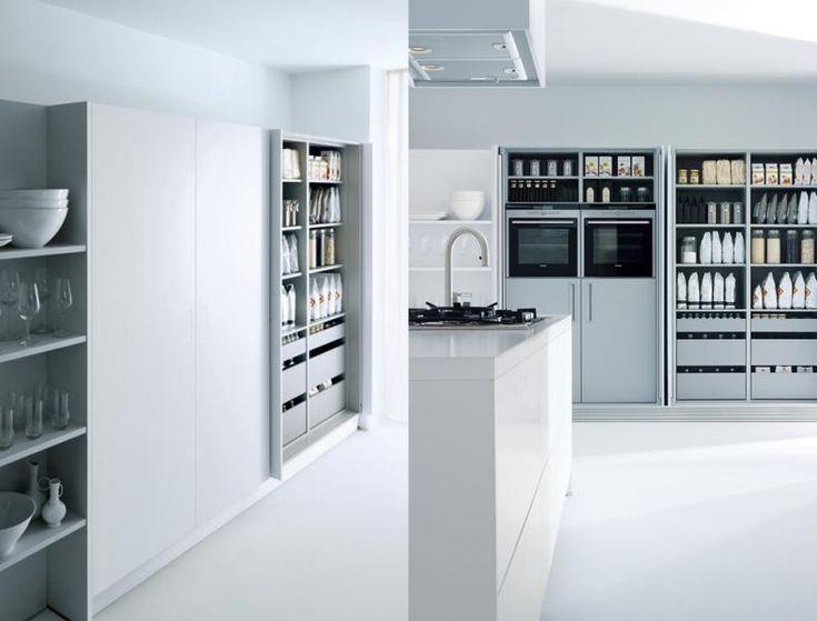 Systeme für kleine Küchen: Küchenschrank mit versenkbaren Türen ...