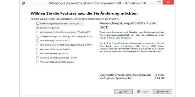 Das Windows 10 Assessment and Deployment Kit (ADK) enthält eine aktuellere Version von Dism. Diese ist für neuere Windows-Versionen erforderlich.In der Download-Version von Windows 8.1 und 10 liefert Microsoft das Installationsabbild als Install.esd aus. In die ESD-Datei lassen sich jedoch keine Updates integrieren oder andere Anpassungen vornehmen. Mit Dism lässt sich die ESD- jedoch in einen WIM-Datei konvertieren. Dazu verwenden Sie folgende Befehlszeile in einer Eingabeaufforderung mit…