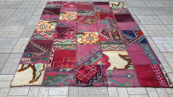 Turkish patchwork rug.All handmade old kilims and by turkishrugman