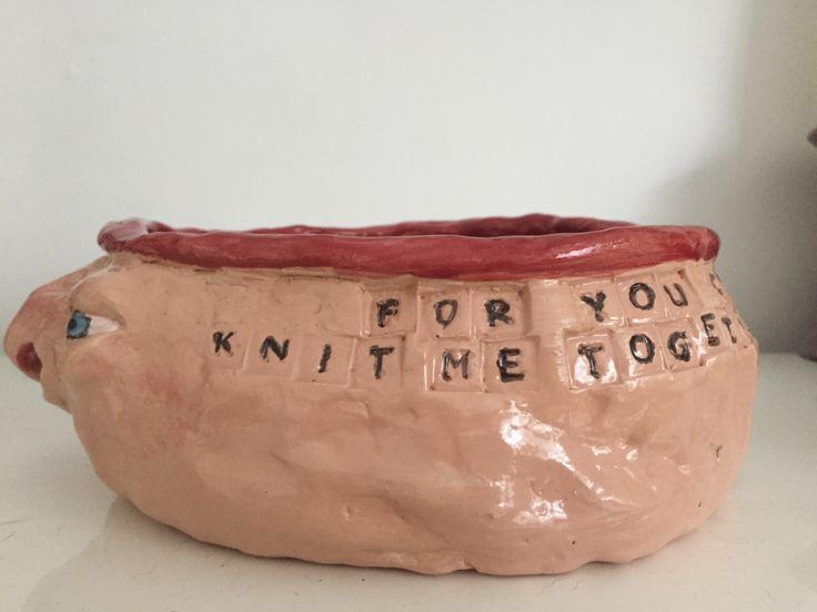 Ceramic Ugly Yarn Bowl Scripture