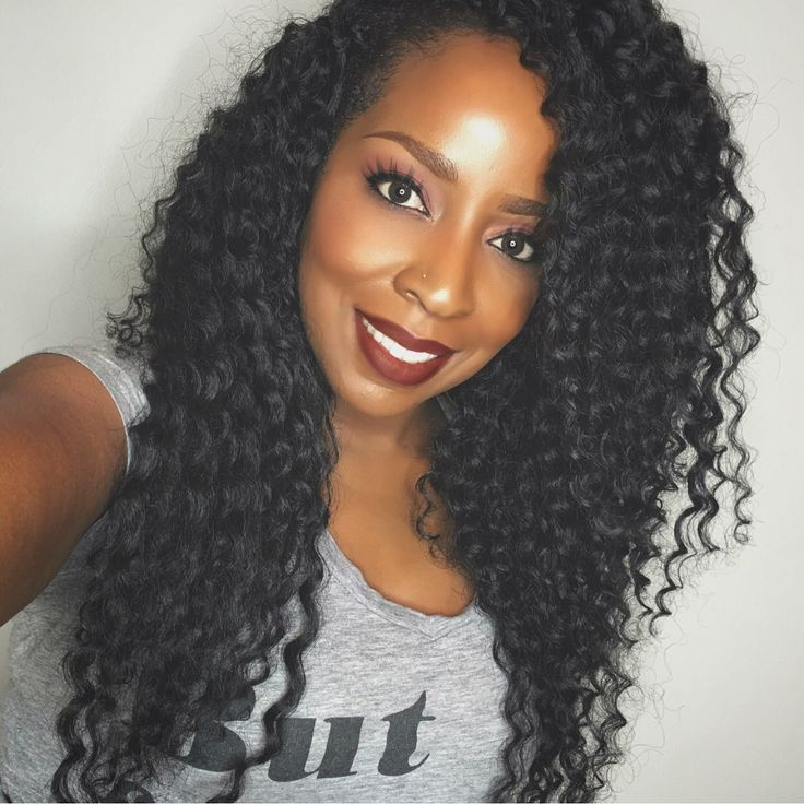 Crochet braids for vacation using deep wave by model model... Stylist @vanitybydanit