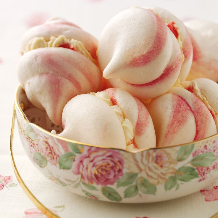 This beautiful pink swirled meringues recipe from BakingMad.com is ideal to make for a party as you can make them a week in advance!
