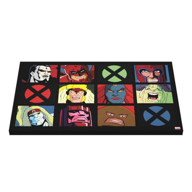 Classic X Men X Men Villain Character Grid Canvas Print Ad Affiliate Character Grid Canvas Villain Sho Retro Canvas Art Canvas Canvas Art Prints