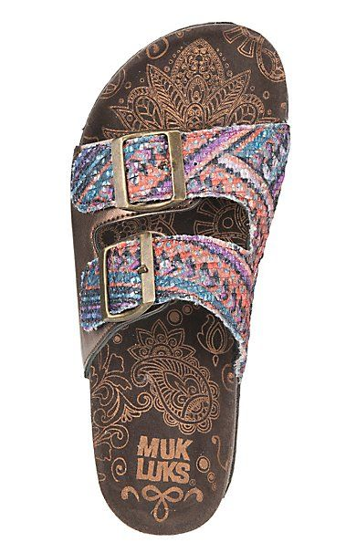 Muk Luk Women's Multi Colored Sequin with Buckles Marla Sandals | Cavender's