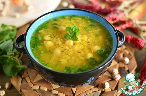 Живительный суп из красной чечевицы и нута - кулинарный рецепт