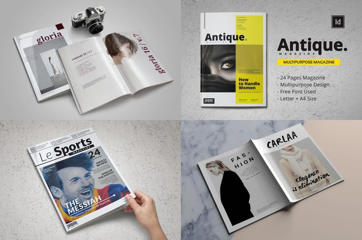 Pro Magazine Templates Bundle - only $9 (85% OFF) | Pixelo #magazine #template