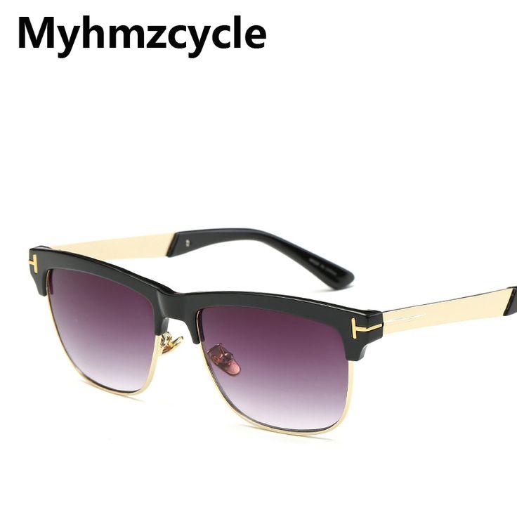 Myhmzcycle 2017 High-end Famous vintage Mirror men Women celebrity Sunglasses Brand Designer fashion Sun glasses Oculos de sol #Affiliate