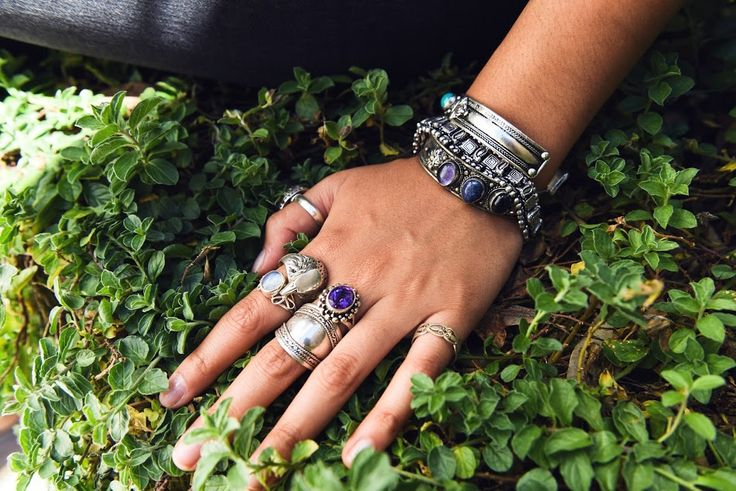 Sterling silver rings, eagle, laborite, plain silver rings. Large boho cuff, lapis cuff, bracelet. Amethyst large ring Lookbook – The Namaste Boutique