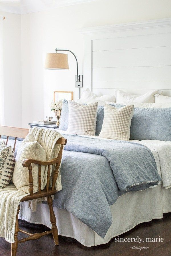 3 Ways To Make a Pretty & Comfy Bed + Our New Linen Bedding