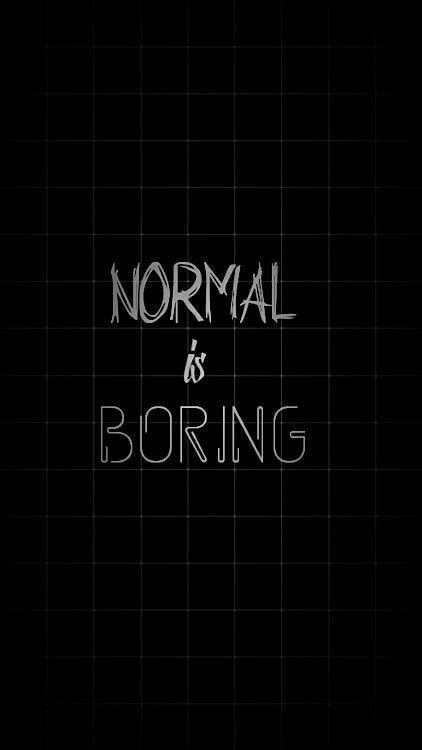 Normal ist langweilig – #aburrido #es #lo #normal