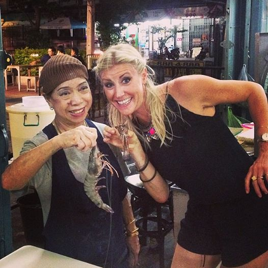 Nothing small about these #shrimp with the owner and #chef herself