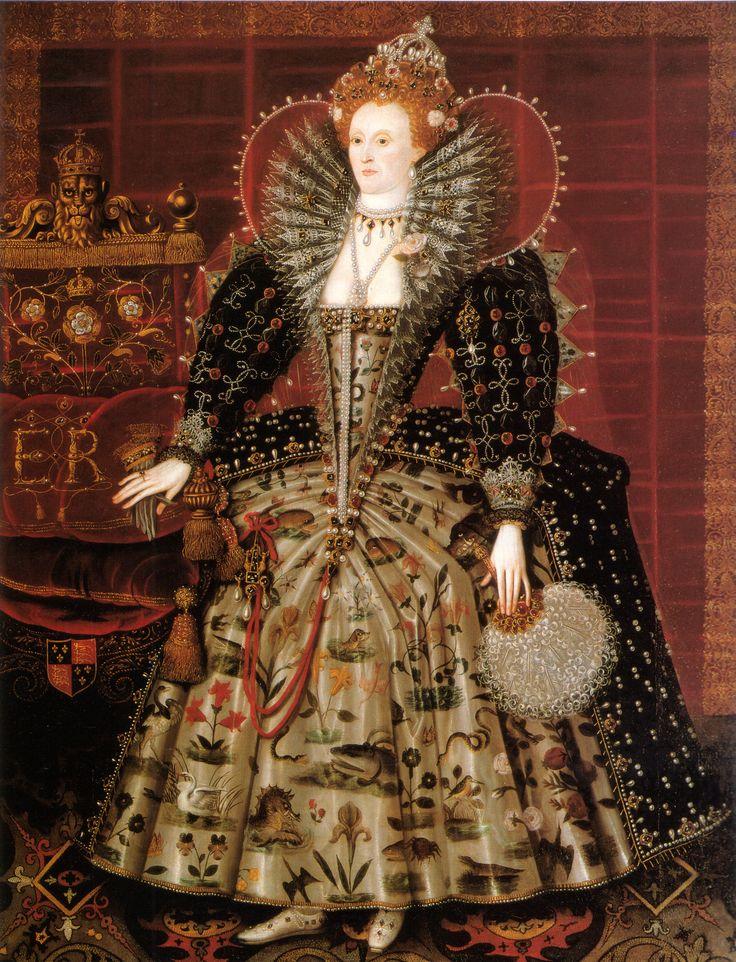 Elizabeth 1ère d'Angleterre (~1599) Nicholas Hilliard - Hardwick Hall (Londres)