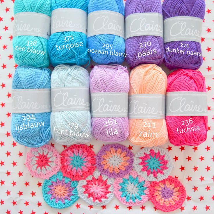 Love this colour combo Kleur inspiratie 2 - byClaire - haakpatronen, haakboeken, haakgaren