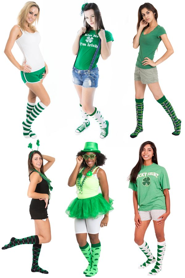 Accessorize YOUR Outfit on St. Pattys Day with Knee Highs.  It's all about wearing green on St. Patricks Day. Fun to wear at your next Shamrock Run (www.kneehighsocks.org)