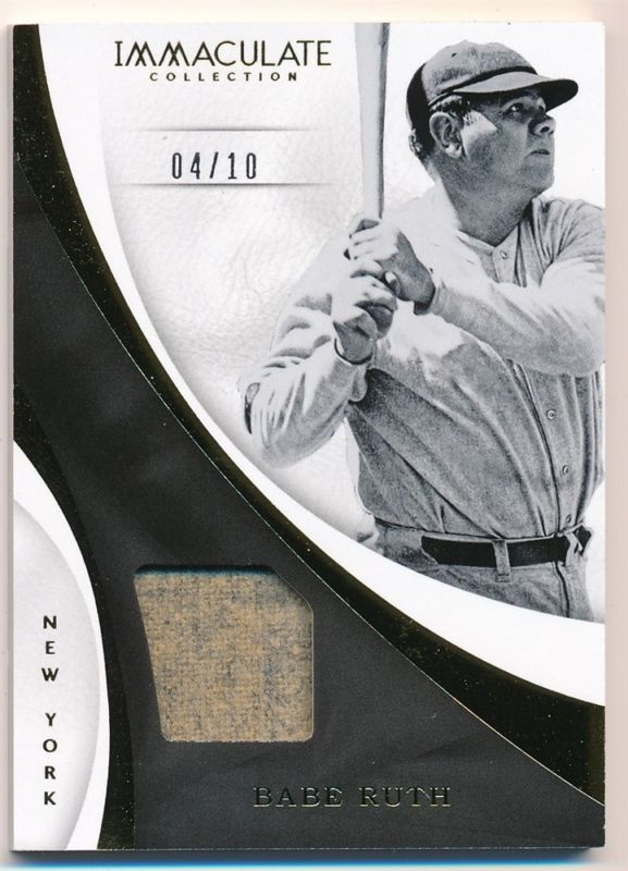 best service caabb 60182 BABE RUTH 2017 IMMACULATE COLLECTION GAME USED YANKEES ...