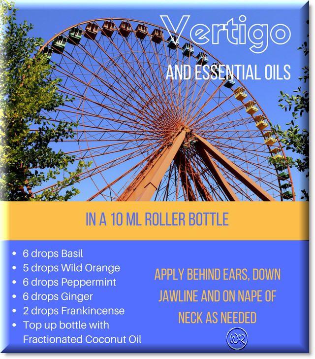 Roller bottle recipe of essential oils for Vertigo or dizziness