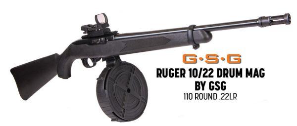 Gsg Ruger 10  22 110 Round Drum Magazine For Sale