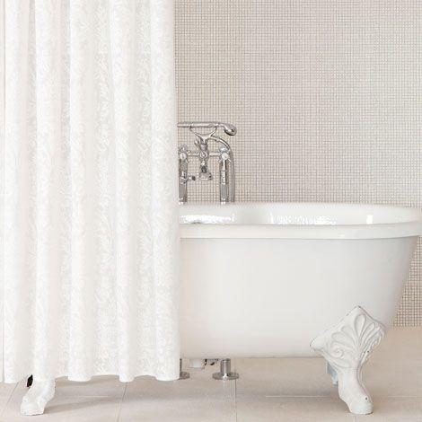Zara Home Damask Print Shower Curtain