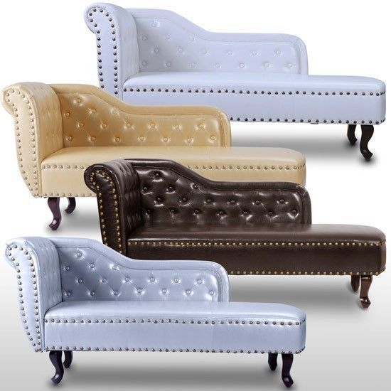 Chaise Longue Sofa Lounger Chesterfield Seat Armchair Chair Day Bed Furniture