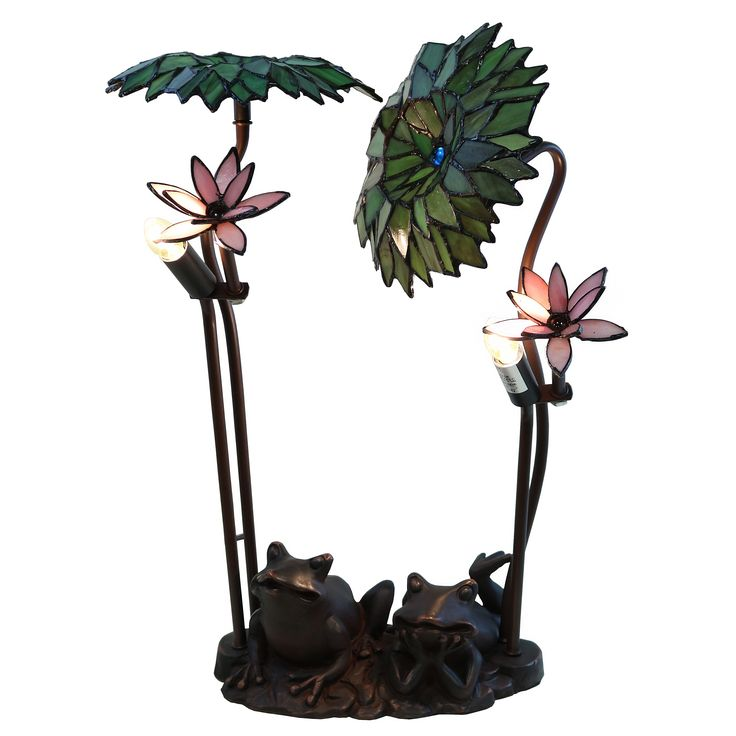 Home Goods Store Shop For Roa Green Palms With Frog Tiffany Style Table Lamp Get Free Shipping At Your