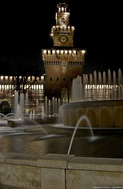 Castello Sforzesco, Milán, región de Lombardía, Italia, provincia de Milán
