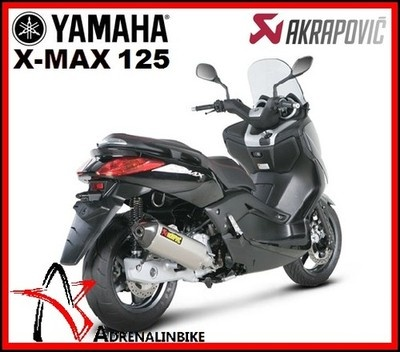 NUOVO TERMINALE SCARICO OMOLOGATO AKRAPOVIC YAMAHA X-MAX XMAX 250 ANNO 2009-2010